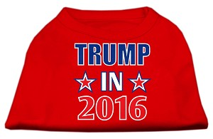 Trump in 2016 Election Screenprint Shirts Red XL (16)